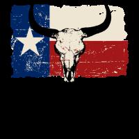 Texas Bull Flag - Vintage Look