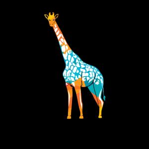 Giraffe Paarhufer Okapi Steppengiraffe