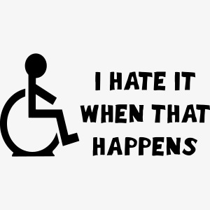 Ik haat rolstoel pech 002