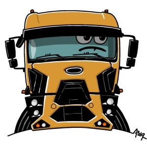0812 F truck geel