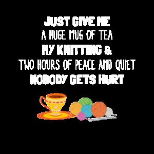 Gib mir einfach eine riesige Tasse Tee, mein Strickdesign