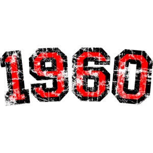 Jahrgang 1960 (Vintage Rot) 60. Geburtstag