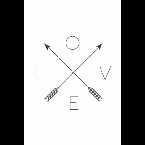 Love Arrow Pfeil Typografie minimal