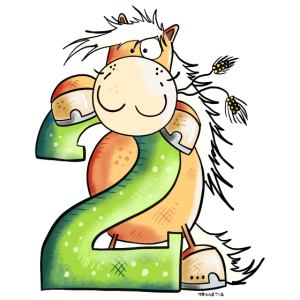 Geburtstags Pferd