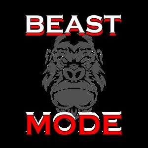 Beast Mode Shirt zum Training im Fitnessstudio