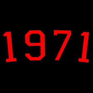 Jahrgang 1971 (Vintage Rot) 50. Geburtstag