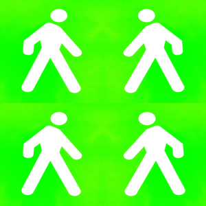 Im Grünen spazieren gehen