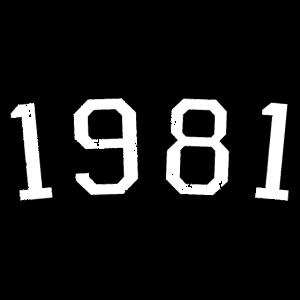Jahrgang 1981 (Vintage S/W) 40. Geburtstag