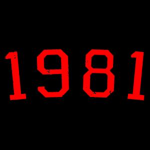 Jahrgang 1981 (Vintage Rot) 40.Geburtstag