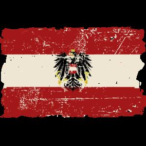 Austria Flag - Vintage Look