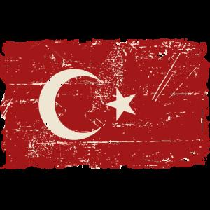 Turkey Flag - Vintage Look