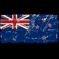 New Zealand Flag - Vintage Look