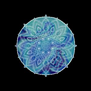 Mandala blauer Ozean