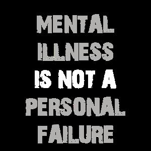 Geisteskrankheit ist kein persönlicher Versagensdruck