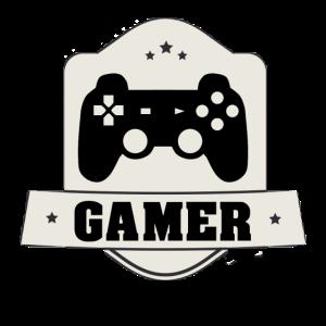 Abzeichen für waschechte Gamer Controller Zocken