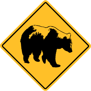 Grizzly Road Sign