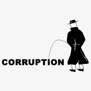 Pissing Man against Corruption