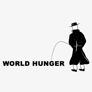 Pissing Man against World Hunger