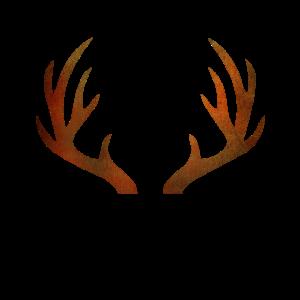 Reh Hirsch Geweih Deer in braun