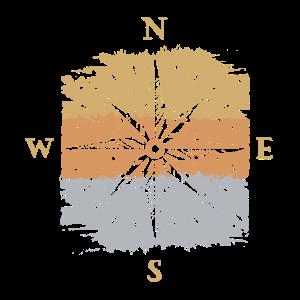 Kompass Compass Navigation Norden Süden Geschenk