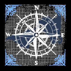 Kompass Navigation Muster Geschenk Geschenkidee