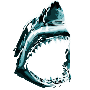 Hai mit aufgerissenem Maul
