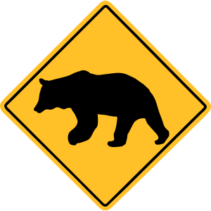 Bear Road Sign