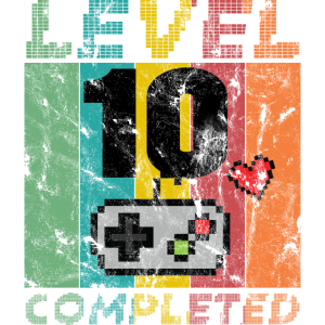 10th Birthday Gamer T Shirt Level 10 Completed