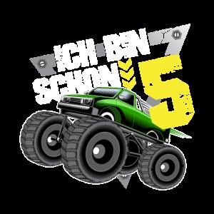 Ich bin 5 Geschenk 5. Geburtstag Monster Truck