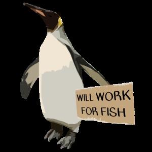 Pinguin sucht Arbeit