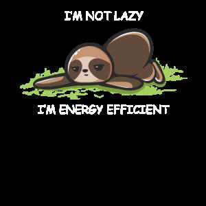 I'm not lazy - I'm energy efficient!