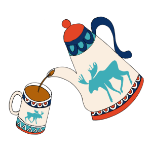 Elch Kaffee Souvenir aus Skandinavien