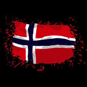 Norway Flag - Vintage Look