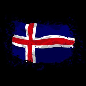 Iceland Flag - Vintage Look