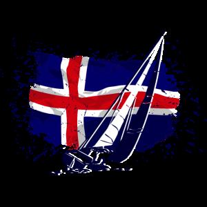 Iceland Sailing - Vintage Flag