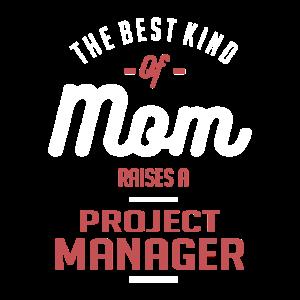 Mutter wirft einen Projektmanager
