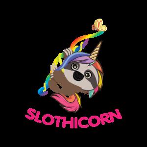 Buntes Slothicorn am Abhaengen