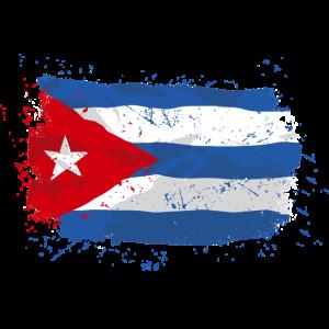 Cuba Flag - Vintage Look