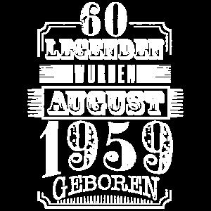 60. Geburtstag Deko Geschenkideen Jahrgang August