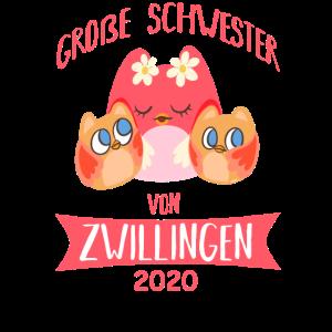 Große Schwester Zwillinge 2020 Eule