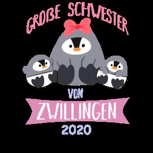 Große Schwester Zwillinge 2020 Pinguin