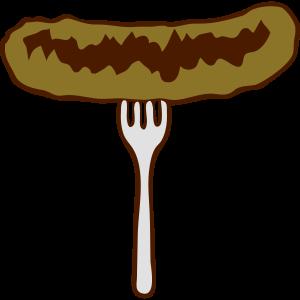 gabel wurst grillwurst würstchen essen lecker