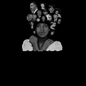 Ich bin afrikanische Afro-Frau der schwarzen Geschichte