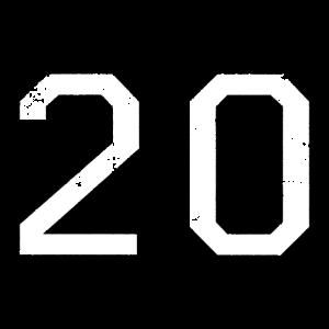 Zahl 20 Nummer Zwanzig 20. Geburtstag