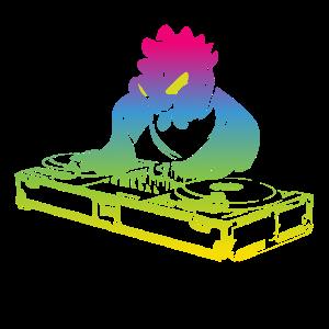 Cooles Vintage Musik Produzenten DJ Huhn