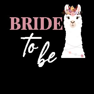 Braut Bride to be JGA Alpaka Hochzeit