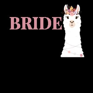 Bride to be Braut Alpaka JGA Junggesellenabschied