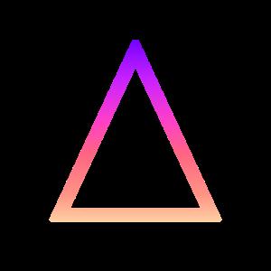 Dreieck mit schönen Farben