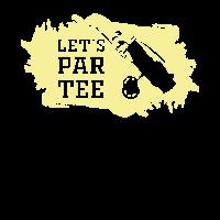 Golf Golfer - Let's par tee