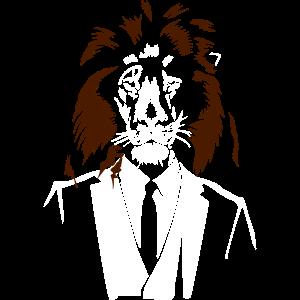Löwe im Anzug